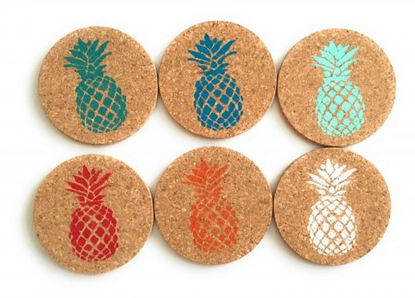 Colorful Pineapple Coaster Set 1