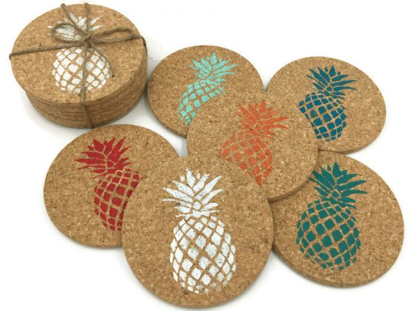Colorful Pineapple Coaster Set 4
