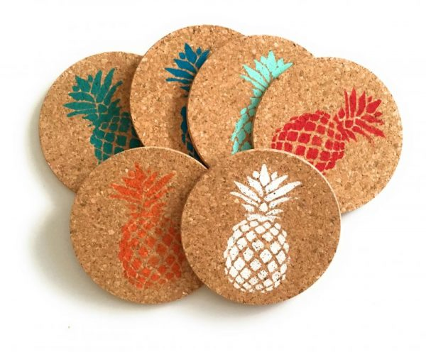 Colorful Pineapple Coaster Set