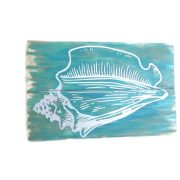 Tropical Turquoise Conch Shell Sign