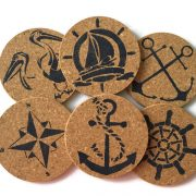Nautical Coasters Set of 6 8