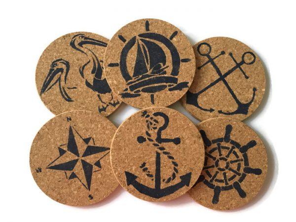 Nautical Coasters Set of 6 8