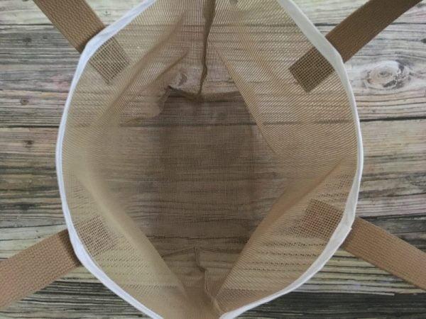 Tan Mesh Sand Free Beach Tote Bag 2