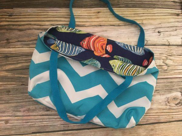 Tropical Reversible Fish Beach Tote Bag 4