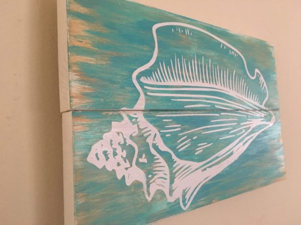 Turquoise Conch Shell Sign 1