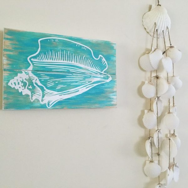Turquoise Conch Shell Sign 4