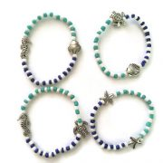tropical beach bracelet set