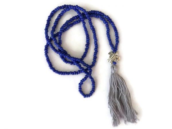 Blue Turtle Mala Necklace