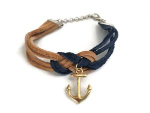 Suede Nautical Sailor's Knot Bracelet