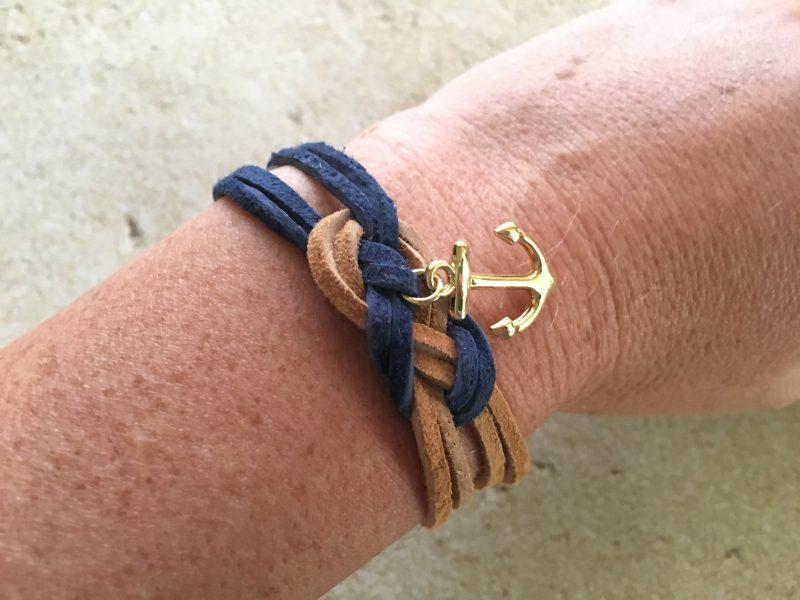 Suede Nautical Sailor S Knot Bracelet