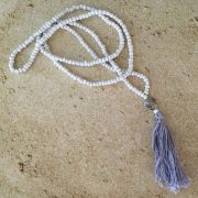 White Seashell Mala Necklace