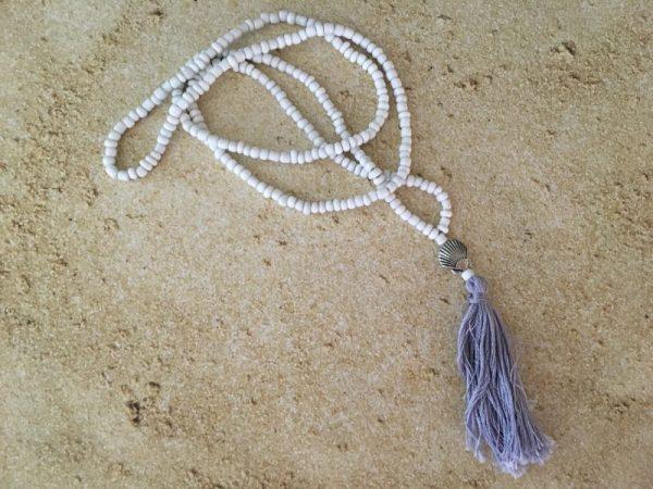 White Seashell Mala Necklace