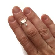 Adjustable Palm Tree Midi Ring 1