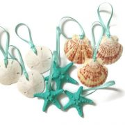 Mini beach christmas ornaments