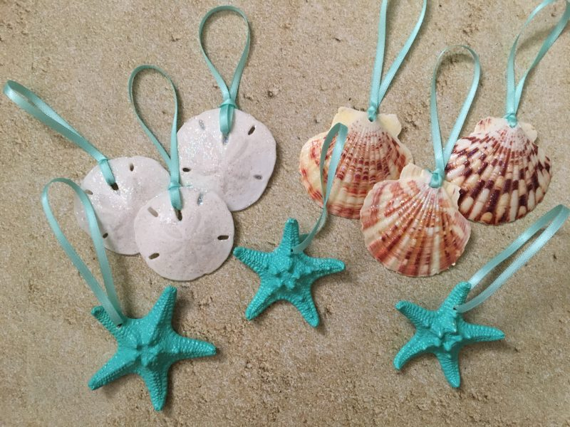 mini beach christmas tree ornament package - Beach Christmas Ornaments