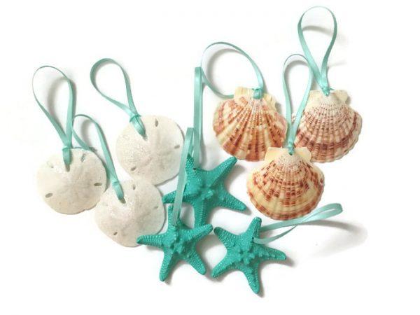 Mini beach christmas ornaments