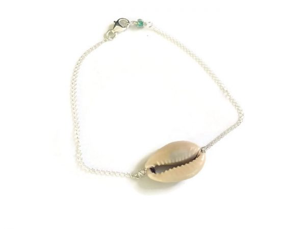 sterling silver cowrie anklet 8