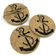 Beach and Nautical Theme Cork Coaster Wedding Favors 4