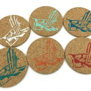 Colorful Adirondack Chair Drink Coasters, 6