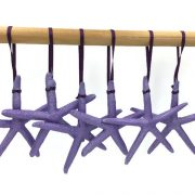 Metallic Purple Finger Starfish Ornaments, 6 1