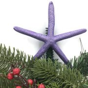 Metallic Purple Starfish Christmas Tree Topper