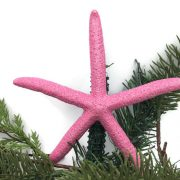 Pink Glitter Starfish Tree Topper