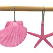 Pink Seashell and Starfish Ornament