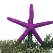 Purple Glitter Starfish Christmas Tree Topper 1