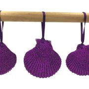 Purple Seashell Ornaments