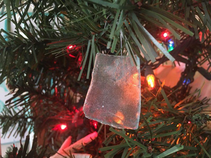 tropical colorful sea glass christmas ornaments - Glass Christmas Ornaments