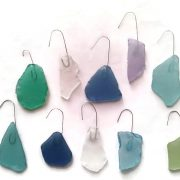 Tropical Colorful Sea Glass Ornaments