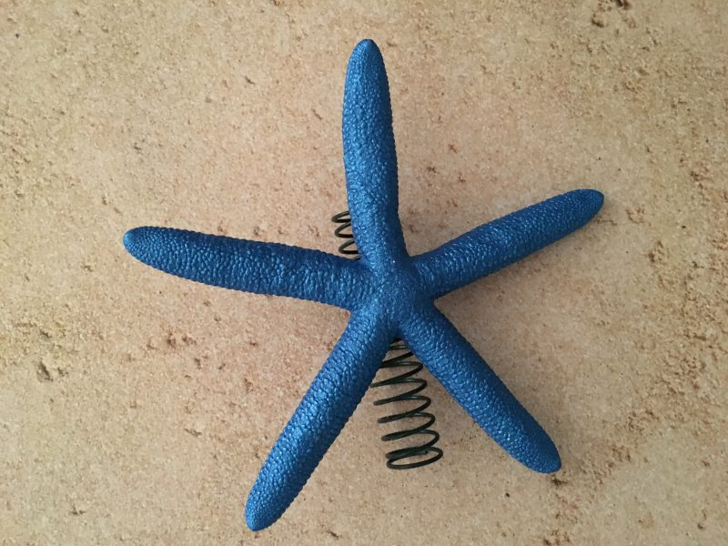 Metallic Sapphire Blue Finger Starfish Tree Topper