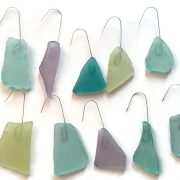 Tropical Sea glass ornaments 3