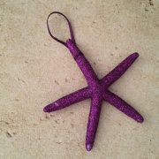 Very Glittery Purple Starfish Ornaments