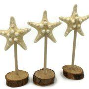 Set of 3 knobby starfish statues