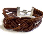 Double Leather Sailors Knot Bracelet