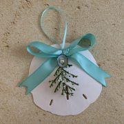 Holiday Sand Dollar Christmas Ornament