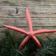 Metallic Coral Starfish Topper