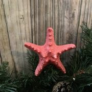 Mini Metallic Coral Knobby Starfish Topper