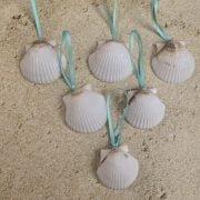 Mini White Seashell Ornaments