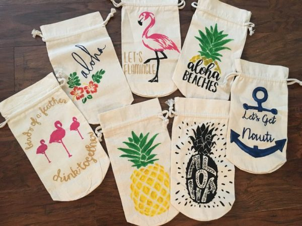 Tropical Wine Gift Bags