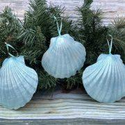 Blue Seashell Ornament 1