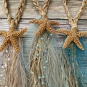 Braided tule and beaded pew bows 6