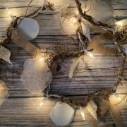 Lighted Seashell and Starfish Beach Garland 1