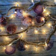 Purple Seashell Beach Decor Lights 13