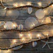 White Seashell Beach Decor Lights 12