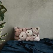 Pink Sea Urchin Basic Pillow