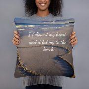 I Followed My Heart to the Beach & Starfish Basic Pillow