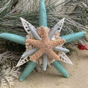 Metallic Turquoise with Crushed Shells Topper 2